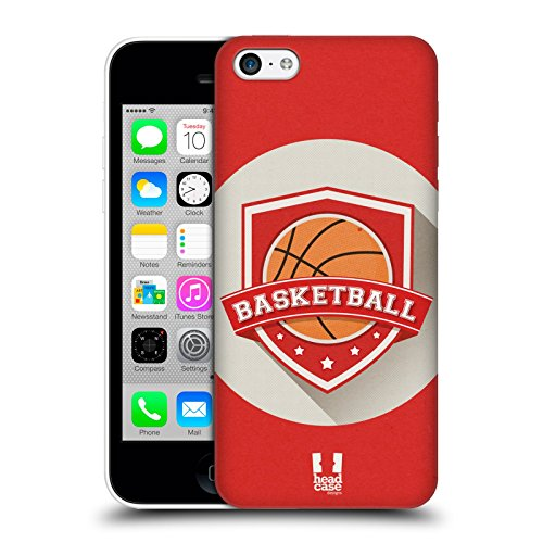 Head Case Designs Hockey Insigne Sportif Étui Coque D'Arrière Rigide Pour Apple iPhone 5 / 5s / SE Basketball