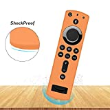 Remote Case/Cover for Fire TV Stick 4K Ultra HD Streaming Media Player,Silicone Protective Case[Ultra Light]Shockproof[Anti-lost]Skin for 3rd/2nd Gen All-new Alexa Voice Remote/Fire TV Cube-Orange