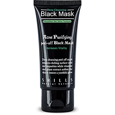 SHILLS Deep Cleansing Purifying Peel-Off Black Face Mask (2pcs), 100% Genuine, Natural, Oil-Control, Blackhead Removing – 2 Pack …