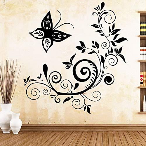 SLQUIET Netter Schmetterling Kunst Aufkleber Wohnzimmer WasserdichteWandaufkleber Kinderzimmer WanddekorationWandbilder Aus Haus Und GartenWandaufkleberLilaL 43 cm X 45 cm
