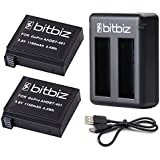 Bitbiz Camera Power Battery For GoPro HERO4 And Dual USB Charger Set Kit For GoPro AHDBT-401, AHBBP-401, 3.8-Volt 1160mAh Batteries Pack