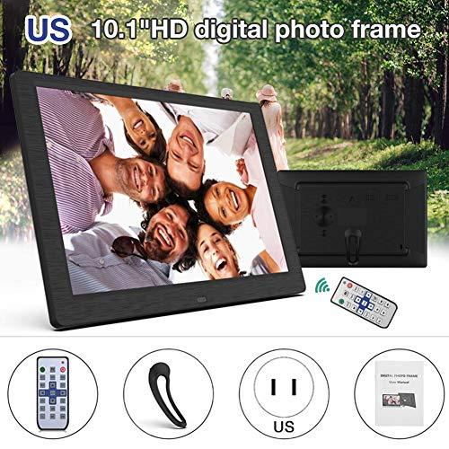 Digitaler Fotorahmen, 10-Zoll-IPS-Vollwinkelbildschirm, 1280 x 800 hochauflösend, unterstützt Musik, Foto, Video, Kalender, E-Book usw.