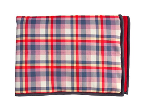 Wobbly Walk Checkered Blanket with Fleece (Red)