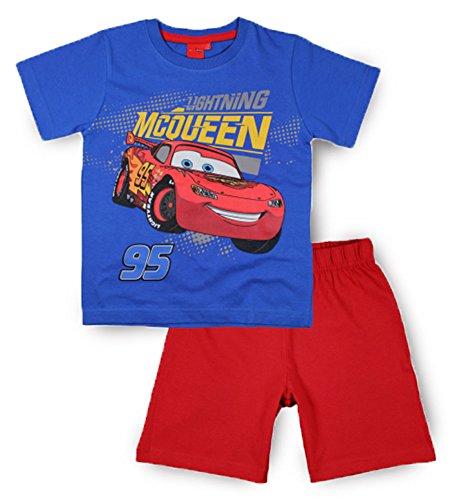 Jungen Disney Pixar Cars Kurzer Schlafanzug-Baumwolle-Alter 2-7Jahre Gr. 8 Jahre, blau / rot -