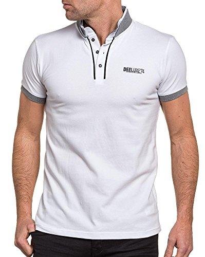 Deeluxe 74 - Polo Mann weiß Doppelkragen Weiß