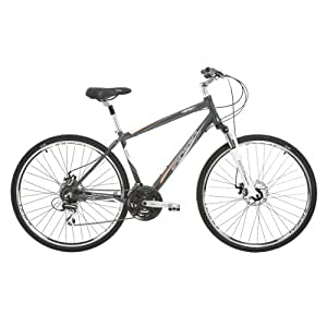Indigo Men's Verso 3 Hybrid Bike - (Grey, 15 Inch, 28 Inch)