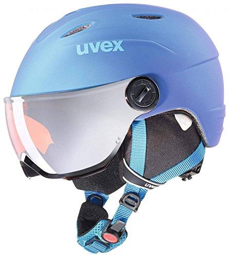 Uvex Kinder Vis. pro Skihelm, Blue met mat, 52-54 cm
