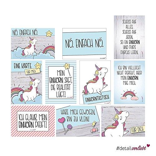 2 x 10 Postkarten mit Einhorn-Motiven I dv_338 I DIN A6 I Spruch-Karten Set lustig witzig Zitate...