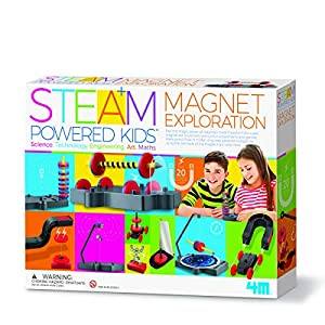 4M 405535 Steam Powered Kids-Magnet Exploration, Mixed