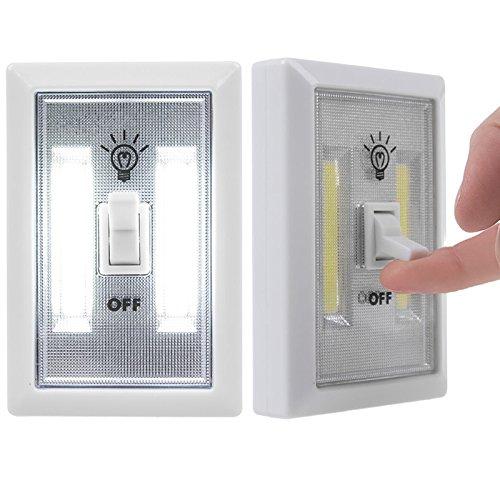 Etbotu batteriebetriebene Kinder Nachtlicht Indoor Outdoor Home Beleuchtung Lampe für Schrank Schrank Regal Küche und Bedside LED Wandschalter COB (Der Hat Fuchs Wo)