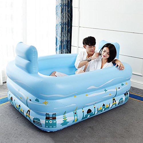 Zusammenklappbare aufblasbare Badewanne Blau Verdickung Green Swimming Pool ( Size : 150*112*50cm )
