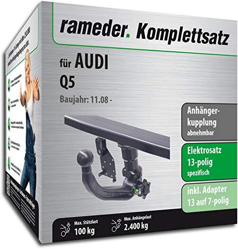 Rameder Komplettsatz, Anhängerkupplung abnehmbar + 13pol Elektrik für Audi Q5 (141281-07534-1)