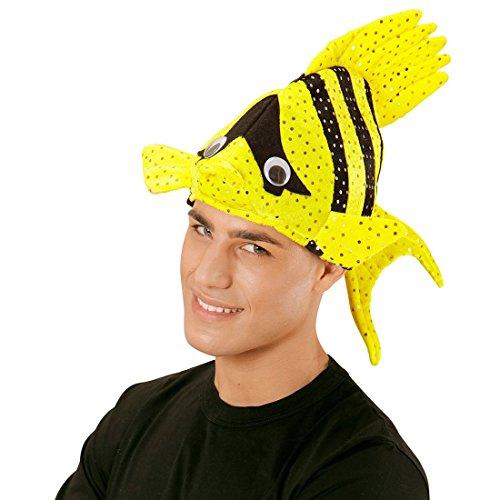 chmütze Tropen Fischhut gelb Fisch Hut Mütze Tierhut Tiermütze Fisch Hut Mütze Faschingshut Nemo ()