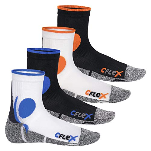 CFLEX 4 Paar Original Laufsocken All Colours-43-46