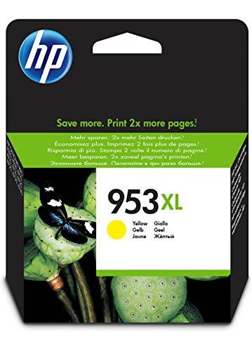 HP 953XL - Cartucho de tinta para impresoras (alto, compatible con OfficeJet Pro 8210/8218/8710 AiO/8715 AiO), amarillo