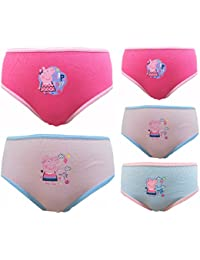 Peppa Pig niñas 5 pack 100% Algodón Braguitas / Briefs 18 meses - 5 años