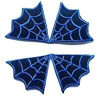 """Toppe termoadesive applique toppa jeans stoffa patch ricamato adesiva applicazioni toppe termoadesive """" net Spiderman 2 pezzi 9 x 9 cm complet """""""