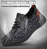 Scarpe Antinfortunistiche da Uomo Punta in Acciaio, G118-2, Sneakers da Lavoro Leggere ed Eleganti Taglia 40-46,Grigio,46EU