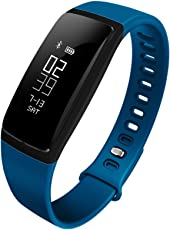 Riversong Wave BP Fitness Tracker with Blood Pressure Monitor and Heart Rate (Blue)