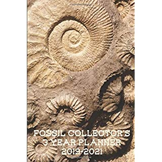 Fossil Collector's 3 Year Planner 2019-2021: Compact and Convenient 3 Year Planner for Fossil Collectors, Paleontologists and Amateur Rockhounds