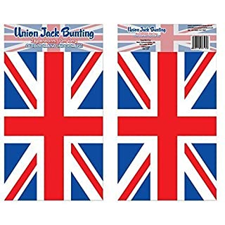 Union Jack Bunting - 10m Length - 24 Flags - Indoor and Outdoor Use