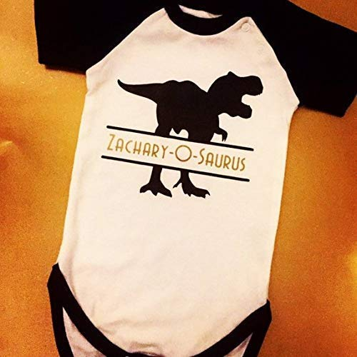b0aec95c8fe Personalised Dinosaur baby outfit - First Birthday outfit - Cake smash -  Custom name on Bodysuit
