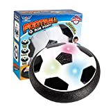 laonBonnie LED-Licht Blinkende Musik Ball Spielzeug Elektrische Luftkissen Federung Fußball Disc Innenfußball Schweben Gleiten Spielzeug