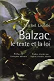 Balzac, le texte et la loi