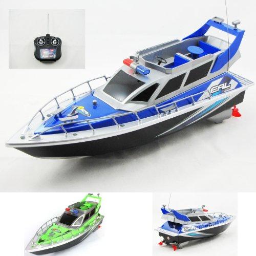 Preisvergleich Produktbild RC ferngesteuertes Polizeiboot Polizeischiff Polizei Boot Schiff 43 cm Lang inkl. Akku