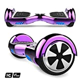 Markboard Hoverboard,Elektro Scooter 6,5 LED Elektro Scooter E-Balance E-Skateboard Elektroroller Bluetooth LED(JD LILA)