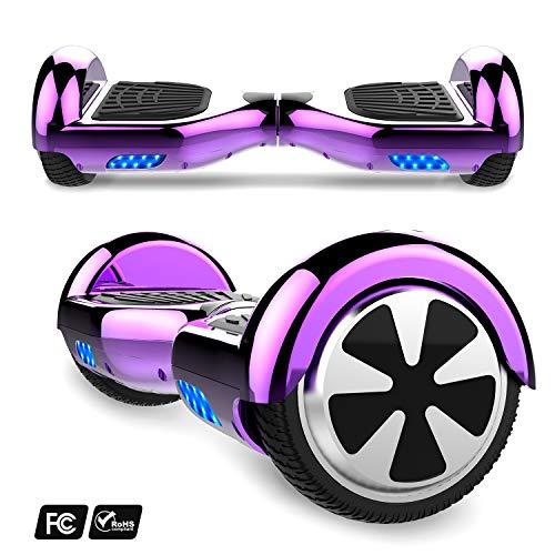 Hoverboard con ruote 6.5 pollici,Balance Board SUV Off-Road, 700W con app, Bluetooth e LED