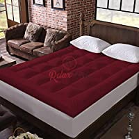 Relaxfeel 600 GSM Microfiber 5 Star Cotton Small Bed Soft Waterproof Quilted Mattress Topper Padding for Comfortable…
