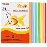 #7: PIGLOO™ Premium A4 Color Paper for Photocopy - 100 Sheets. 10 Colour. 80GSM