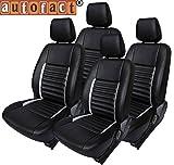 #2: Autofact AF03 Art Leather Car Seat Covers Maruti Alto (2000 to 2014) (Black / Silver)