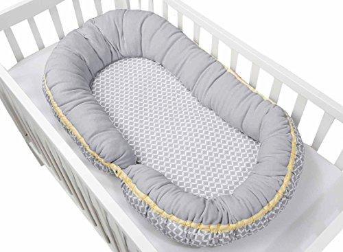 2in1 Babynest + junior sleepy-C, multifunktionales Babybett, grau