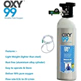 Oxy99 Medical Approved (Certified) Oxygen Cylinders With Oxygen Face Mask Boschi Italy (1700 Liters)