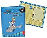 Unbekannt Meine Kindergarten Freunde Buch - Pirat für Jungen - dick gebunden für Kindergartenfreunde Poesie A5 Hardcover - Freundebuch Poesiealbum Kinder
