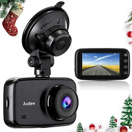 Audew Dashcam Autokamera 1080p Full HD DVR mit Nachtsicht 3.7 Zoll LCD-Bildschirm 150 ° Weitwinkel, G-Sensor, WDR, Parkmonitor, Loop-Aufnahme, Bewegungserkennung