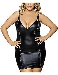 8e1794d4818 Moon Angle Sexy Tight Leather Bodycon Sommerkleider V-Ausschnitt Bleistift Lederkleid  Schwarz Etuikleider Bodycon Kleines
