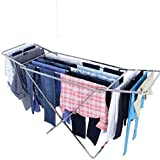 VEEN LIFETIME Stainless Steel Foldable Clothes Stand for Drying Clothes Steel -Made in India