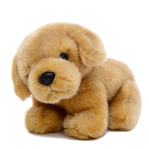 Gloveleya Realistic Plush Dog Dolls Stuffed Animal Puppy Baby Girl Toys 8 inches (Golden Retriever)
