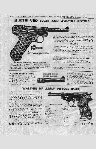 Posters War Pistolen walther p-38 Anzeige 28 cm x43cm 11inx17in Mini-Poster