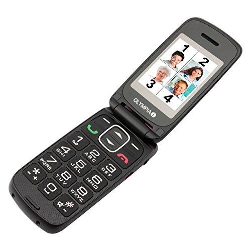 OLYMPIA 2257 Komfort-Mobiltelefon mit Großtasten/Farb-LC-Display Modell Classic Mini schwarz