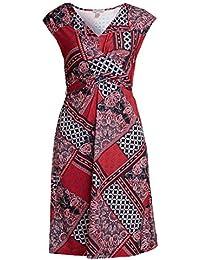 8597ef8cdb5b Anna Field Vestito Casual da Donna - Abito Avvolgente con Scollo a V -  Vestitino con Fasce per la Chiusura - Elegante…