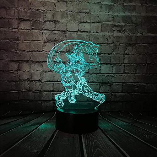 Ilusión óptica 3D Lámpara LED Modelo de Globo Luces Nocturnas 7 Cambio de Color Botón Táctil USB Lámparas de Mesa de Escritorio LED Regalo de Navidad Día del Niño Regalo