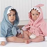 Lexikind Kapuzenhandtuch Baby: Frottee Bademantel - Babyhandtuch mit Kapuze - Kapuzenbadetuch (Hai blau) - 8