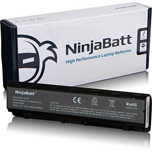 NinjaBatt Laptop-Akku für Toshiba PA5109-1BRS PA5110U-1BRS PA5108U-1BRS Satellite C50 C55 PABAS272 PABAS271 PABAS273 - Hohe Leistung [6 Zellens/4400mAh/48wh]