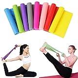 Set di 2 fasce di resistenza in plastica TPR, fasce per esercizi di yoga, stiramenti, palestra, fitness, fasce per migliorare la mobilità, potenziamento e riabilitazione, 1.5 meter set of 2