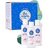The Moms Co Travel Kit for Baby with Shampoo (30 ml), Wash (30 ml) and Lotion (30 ml)