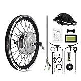 AFTERPARTZ e-bici Bicicletta elettrica Kit di conversione Frontmotor con Display LCD 36V 250W (26')
